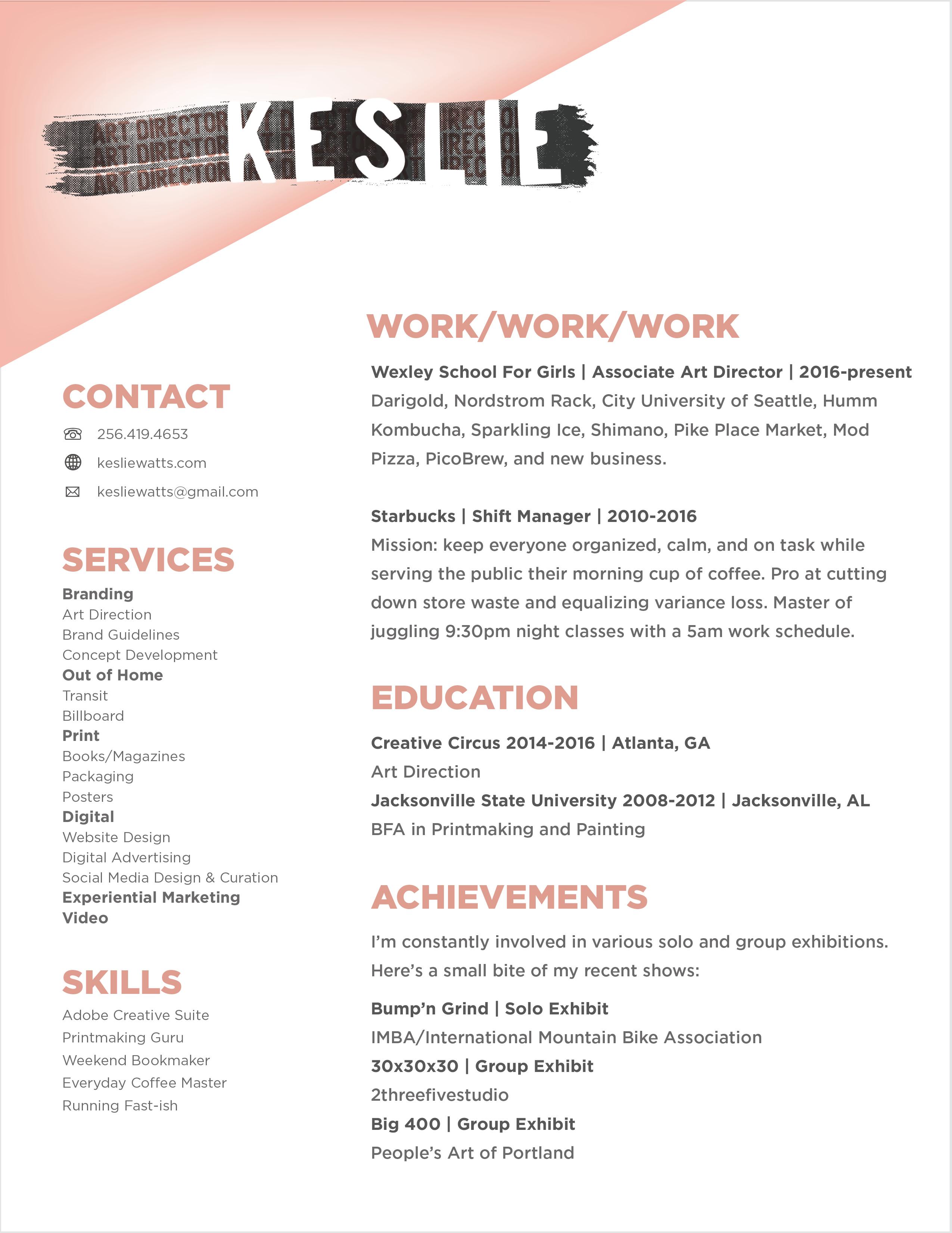 KeslieWatts-Resume